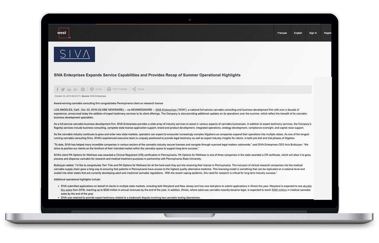 Laptop browsing SIVA Enterprises Article